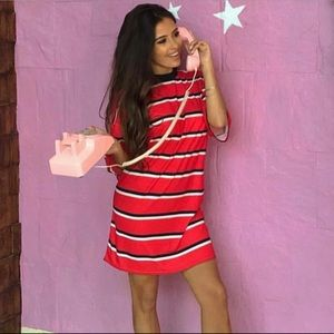 PrettyLittleThing Striped T-Shirt Dress NWT